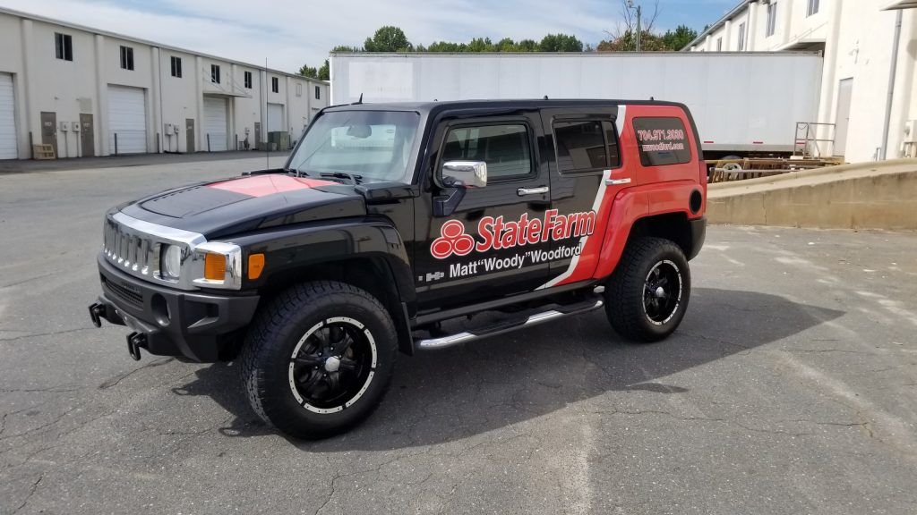 H3 hummer State Farm wrapp